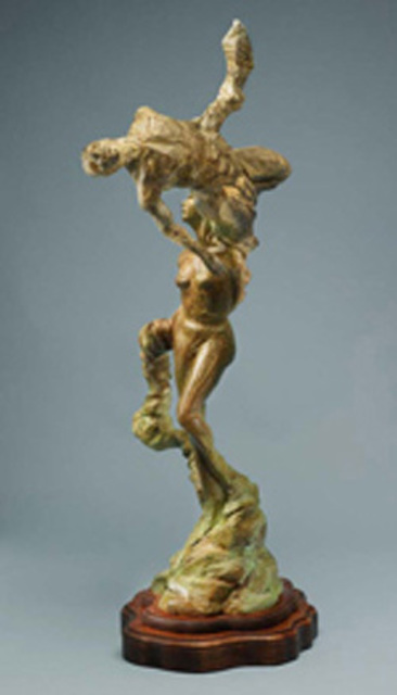 Paul Orzech  'Acrobats: The Triumph Of Pericles', created in 2007, Original Sculpture Bronze.