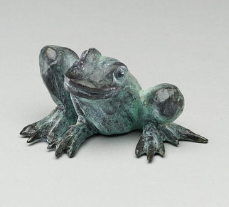 Paul Orzech Artwork Frog, 2009 Bronze Sculpture, Animals