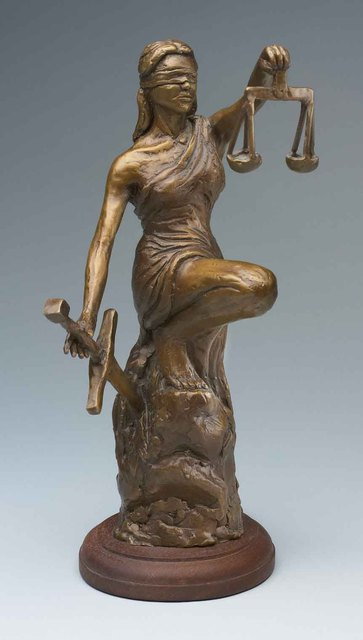 Paul Orzech  'Lady Justice', created in 2004, Original Sculpture Bronze.