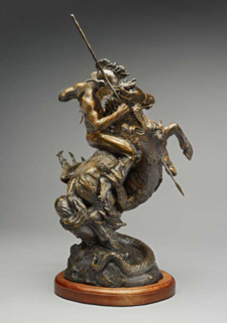Paul Orzech  'Saint George And The Dragon', created in 2007, Original Sculpture Bronze.
