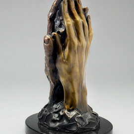 Paul Orzech: 'Touch', 2008 Bronze Sculpture, Love. Artist Description:  Touch was commissioned by a patron as