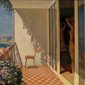 Pavel Tyryshkin: 'Ljdggia', 2008 Oil Painting, Interior. Artist Description:          Lodggia                     ...