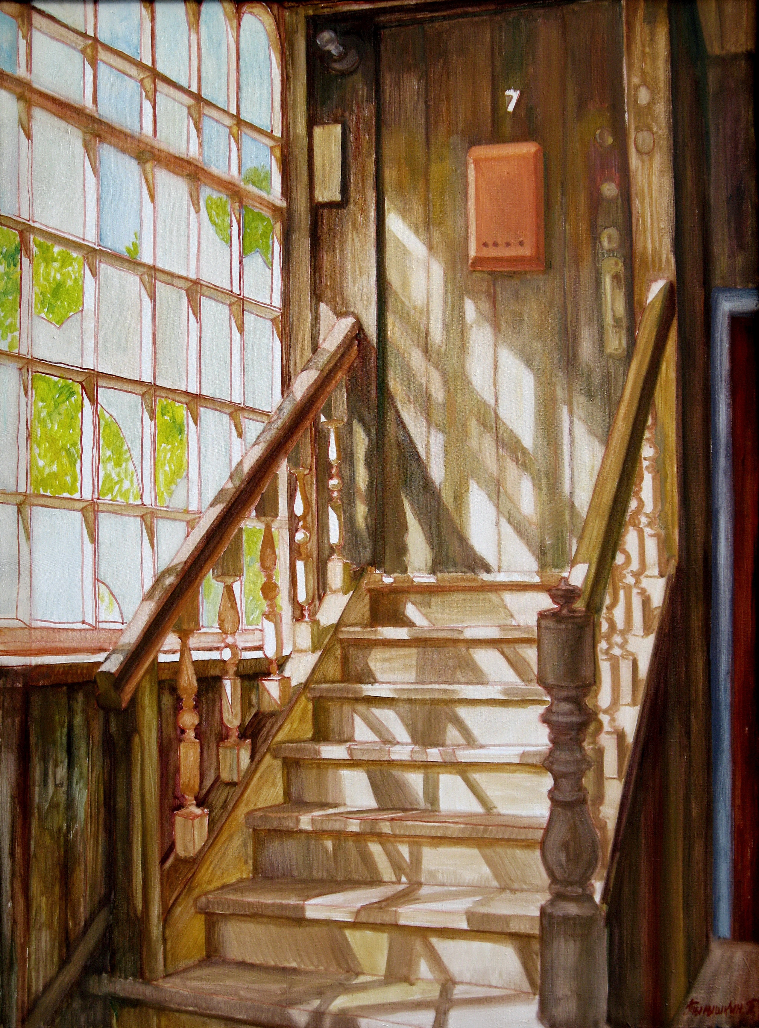 Stairs Oil Painting By Pavel Tyryshkin | absolutearts.com