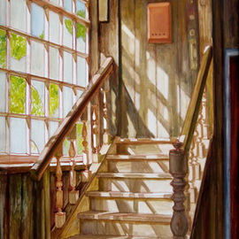 Pavel Tyryshkin: 'Stairs', 2008 Oil Painting, Interior. Artist Description:         stairs                    ...