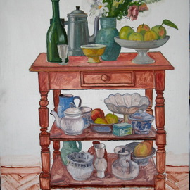 Pavel Tyryshkin: 'still life on a bookcase', 2020 Oil Painting, Still Life. Artist Description: still life on the bookcase...