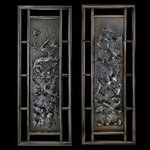 Dragon  phoenix wall decorative pair of  panels  By Pavel Sorokin