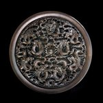 Dragon Wood Carved Wall Decorative Round Panel, Pavel Sorokin