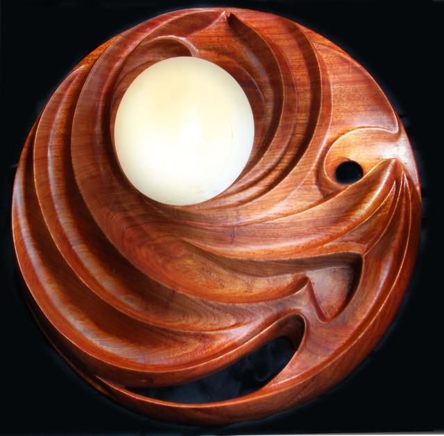 Pavel Sorokin Interior Wall Lantern Paulus Carved Tropical Wood