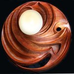 Interior wall lantern carved tropical wood By Pavel Sorokin
