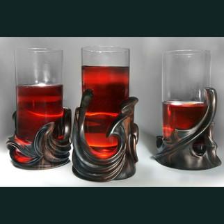 Pavel Sorokin Artwork Morus, set of  three glassholders, 2011 Morus, set of  three glassholders, Fantasy