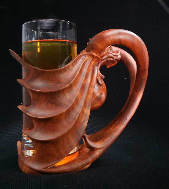Pavel Sorokin beer glass with wooden holder 2014