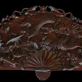 dinh carved wooden panno