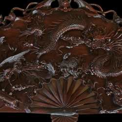 , Dinh Carved Wooden Panno, Fantasy, $3,150