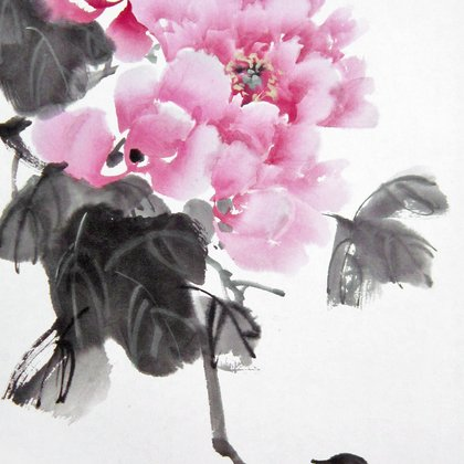 , Peony With Bird, Birds, $158