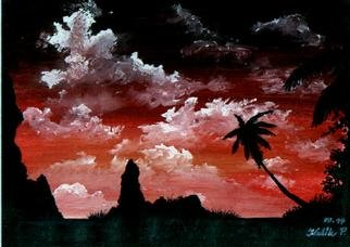 Peter Kulik: 'Key West meditation', 1999 Tempera Painting, nature.