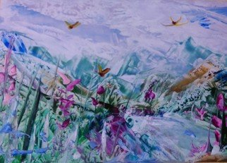Payal Agrawal: 'beauty of nature 06', 2018 Encaustic Painting, Landscape.
