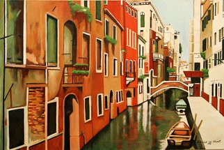 Landscape Acrylic Painting by Patrick Hunt Title: Venice In Color, created in 2008