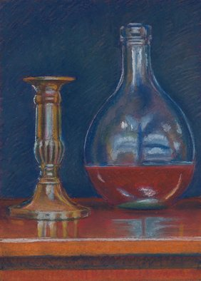 P. E. Creedon Artwork Brass and Glass, 2012 Pastel, Still Life
