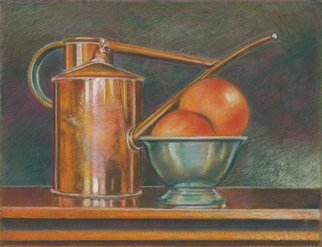 P. E. Creedon Artwork Copper, Pewter, Fruit, 2012 Pastel, Still Life