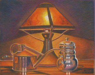 P. E. Creedon Artwork Craftsman Lamp, 2011 Pastel, Still Life