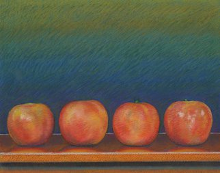 P. E. Creedon Artwork Four Apples, 2011 Pastel, Still Life