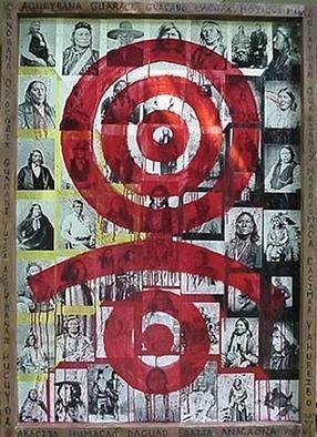 Collage by Pedro Martin De Clet titled: Portrait de Genocide, 2004
