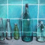 green bottles By Olga Peganova