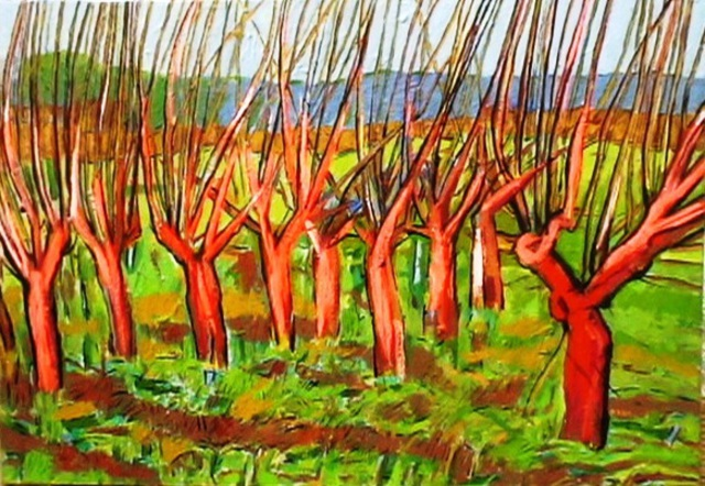 Dimitra Koula  'Trees', created in 2010, Original Painting Oil.