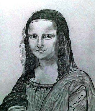 Jambulingam Elangovan Artwork monalisa, 2015 monalisa, People