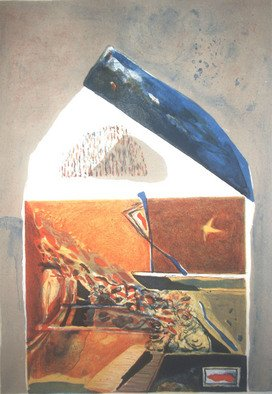 Penka Dimitrova: 'That way', 2006 Lithograph, Abstract.