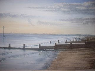 Artist: Stephen Anthony Rea - Title: Beach - Medium: Watercolor - Year: 2008