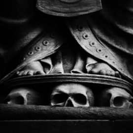 Peter C. Brandt: 'Skulls at base', 2010 Other Photography, Figurative. Artist Description:  architectural details, sculpture, skulls, abstract, architectural, graphic, photography, New York City(c)2012PeterC. Brandt,             ...