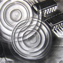 Peter Illig Artwork Shadows of a Dream  7, 2004 Charcoal Drawing, Representational