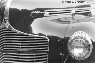 Peter J Crowley: 'Old Dodge', 2008 Silver Gelatin Photograph, Automotive. Artist Description:  Close Up study of Old Dodge Image available in 2 sizes full frame on 8x10 paper image size 6. 9 x 9. 5 and on 11x14 paper image size 13. 1 x 9. 25