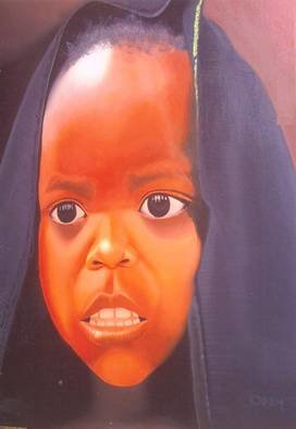 Peter Odeh: 'HOPE OF AFRICA', 2009 Acrylic Painting, Political.  Hope of Africa is a painting which tells us of the plight of the child in times of the several wars in Africa especially Daffuor in Sudan. As children are the most vulnerable in times of war all around the world.   ...