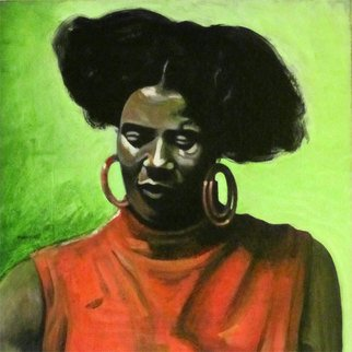 Acrylic Painting by Pete Wiseman titled: Alice Coltrane, 2013