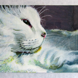 Pete Wiseman Artwork Sunnyside, 2012 Acrylic Painting, Cats