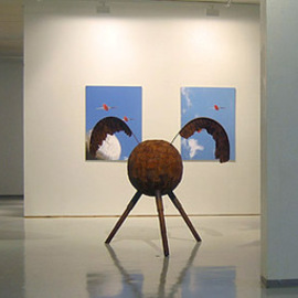 Petri Kiviniemi: 'Exhibition view', 2005 Other Sculpture, Flight. Artist Description:  This is view to my exhibition. Artcenter Maltinranta, Tampere, Finland, year 2005. ...