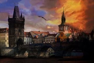 Artist: Petr Nikl - Title: Prague, Charles Bridge - Medium: Color Photograph - Year: 2011