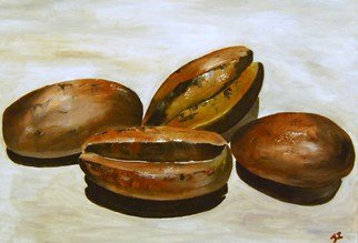 James Emerson Artwork Coffee Beans, 2012 Oil Painting, Cuisine