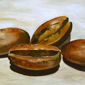 James Emerson: 'Coffee Beans', 2012 Oil Painting, Cuisine. Artist Description:  Coffee beans ready to roast      ...