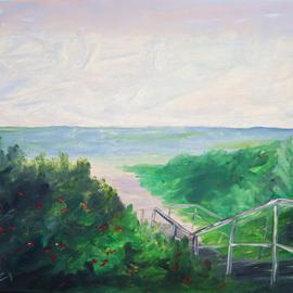 James Emerson: 'Maine Beach walk in August', 2012 Oil Painting, Seascape. Artist Description:    Perfect place for a beach walk in the heat of August in Maine    ...