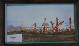 James Emerson Artwork Old Fence and Mail Box, 2009 Oil Painting, Americana
