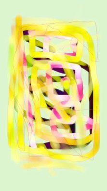 Phillip Pradier: 'Untitled', 2014 Digital Drawing, Abstract.