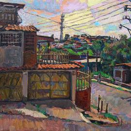Philip Hale Artwork Bajo Piuses Corner 1, 2010 Oil Painting, Landscape