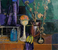 - artwork Still_Life_with_Dried_Zinnias-1357700677.jpg - 1993, Painting Oil, Still Life