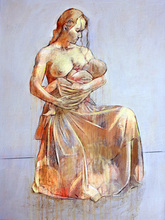 - artwork Mother_and_Child-1253006729.jpg - 2009, Painting Oil, Figurative