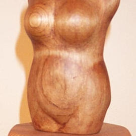 Phil Parkes: 'Ruby', 2003 Wood Sculpture, Figurative.