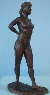 Bronze Sculpture by Phil Parkes titled: Spring Dancer, created in 2001
