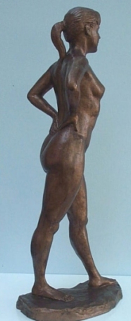 Artist Phil Parkes. 'Spring Dancer' Artwork Image, Created in 2001, Original Sculpture Aluminum. #art #artist